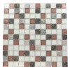 Etched Sierra Spruce Blend 1x1 Marble & Glass Tile