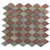 Geological Diamond Multicolor Slate & Rust Glass Tiles
