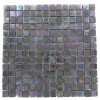Geological Squares Black Slate & Rainbow Black 3/4x3/4 Glass Tiles