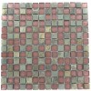 Geological Squares Multicolor Slate &amp; Rust Glass Tiles