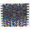 Loft Curve Rainbow Black Marble & Glass Tile