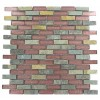 Geological Brick Multicolor Slate & Rust Glass Tiles 1/2x2