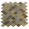Geological Diamond Multicolor Slate & Earth Blend Glass Tiles