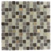 Geological Squares Multicolor Slate & Khaki Blend Glass Tiles