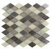Geological Diamond Multicolor Slate &amp; Khaki Blend Glass Tiles