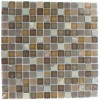 Geological Squares Multicolor Slate &amp; Earth Blend Glass Tiles