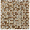 "Squares Leather Boot Brown Blend 1/2"" X 1/2"" Marble & Glass Tile Squares"