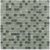 Misted Green Blend Squares Marble & Glass Tile