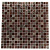 "Bourbon Blend 1/2"" X 1/2"" Marble & Glass Mosaics"