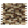 Southern Trail Blend 1/2x 2 Marble &amp; Glass Tile Brick Pattern