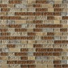 Leather Boot Brown Blend 1/2 X Random Brick Marble & Glass Tile