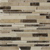 Cafe Breva Free Form Cracked Joint Brick Marble Tile