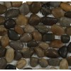 Cobblestone Multicolored Flat Finish Marble Mosaic Tiles