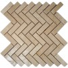 Crema Marfil Herringbone 1x3 Marble Mosaic Tiles