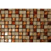 Sample- Metallic Etched Pharaoh's Gold Blend 1/4 Sheet  Tiles Sample