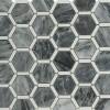 Florentine Dark Bardiglio With White Thassos Marble Tile