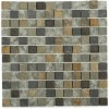 Fusion Chinkapin 1x1 Marble & Glass Tiles