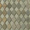 Geological Diamond Green Quartz Slate & White Gold Glass Tiles