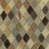 Geological Diamond Multicolor Slate & Khaki Blend Glass Tiles