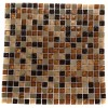 Golden Road Blend Squares 1/2&quot; X 1/2&quot; Marble &amp; Glass Mosaic Tile