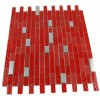 Hell's Kitchen Blend Brick Pattern 1/2&quot; X 2&quot; Glass &amp; Metal Tiles