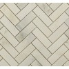 Asian Statuary Herringbone 1x3 Marble Tile
