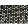 Sample- Metal Black Stainless Steel 3/5 Penny Round Tile Sample