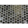 Sample- Metal Silver Stainless Steel 3/5 Penny Round Tile Sample