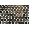 Sample- Metal Rose Stainless Steel 3/5 Penny Round Tile Sample