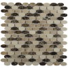 Kinetic Woodlands Ovals Marble Tiles