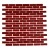 Loft Cherry Red 1/2x2 Brick Pattern