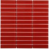 Loft Cherry Red Polished 1x4 Glass Tile