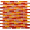 "Sushi 1/2"" X 2"" Polished Glass Tiles In Brick Pattern"