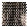 Metal Rose Stainless Steel 3/4 Penny Round Tiles