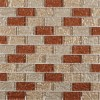 Metallic Copper Peach Blend 1x2 Glass Tile