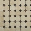 Octagon Crema Marfil 2x2 With Dark Emperador Dot 1/2x1/2 Marble  Tile