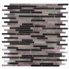 Matchstix Plum Crazy Glass Tile