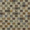 Roman Collection Emperial Slate W/ Deco 1x1 Glass Tile