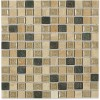 Roman Collection Desert Tan W/ Deco 1x1 Glass Tile