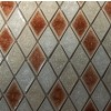 Sample-roman Collection Rosso Blend Diamond 1/4 Sheet Glass Tiles Sample