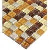 "Sample- Golden Road Blend Squares 1/2"" X 1/2"" Tiles 1/4 Sheet Sample"
