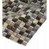 "Sample- Leather Boot Brown Blend 1/2"" X 1/2""  Tile 1/4 Sheet Sample"