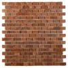 Sample-Wood Onyx Brick 1/4 Sheet Tile Sample
