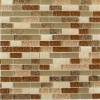 Southern Trail Blend 1/2x 2 Marble & Glass Tile Brick Pattern