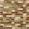 Southern Trail Blend 1/2x 2 Marble & Glass Tile Brick Pattern