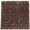 Squares Copper Clay Blend 1/2x1/2 Marble & Glass Tile
