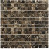 Dark Emperador 1x1 Marble Mosaic Tiles
